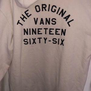 Vans White Hoodie *soft*